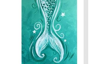 All Ages Paint Nite: Teal Mermaid Tail