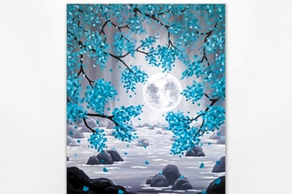 Paint Nite: Teal Moonrise