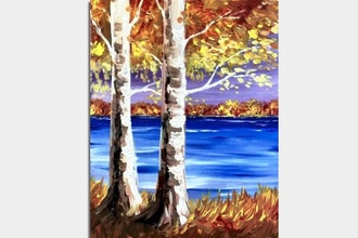 Paint Nite: The Gold of Fall