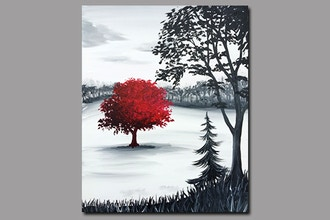 Paint Nite: The Red Tree