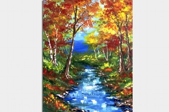 Paint Nite: The Warmth of Fall