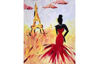 Virtual Paint Nite: The Woman Wore Red to Paris