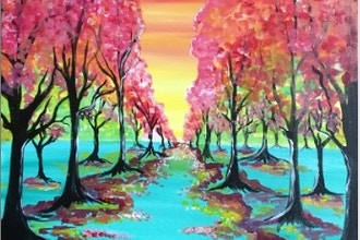 Paint Nite: The Colorful Path