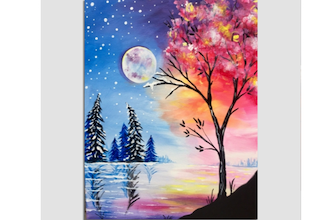 Paint Nite: Transitioning from Winter to Spring
