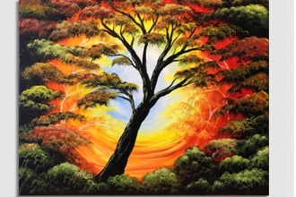 Paint Nite: Tree of Life Autumn Glow (Ages 13+)