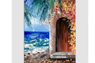 Paint Nite: Tropical Ocean Villa