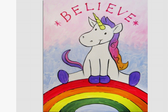All Ages Paint Nite: Unicorn on a Rainbow