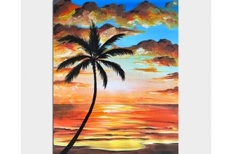 Paint Nite: Warm Sunset Silhouette