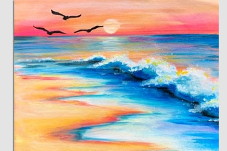 Paint Nite: Waves At Sunset