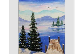 Paint Nite: Winter At The Dock