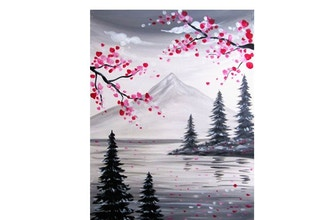 Paint Nite: Winter Blossom Lookout
