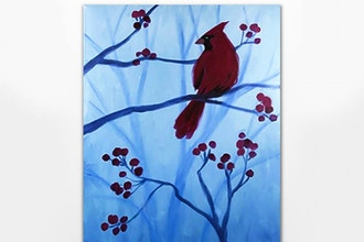 Paint Nite: Winter Cardinal III