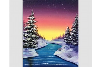 Paint Nite: Winter Glimmer