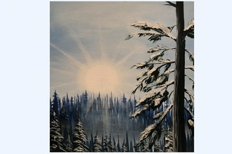 Paint Nite: Winter Mountain Morning