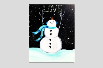 Paint Nite: Winter Snowman Love