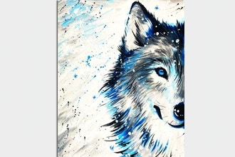 Paint Nite: Winter Wolf in Snow