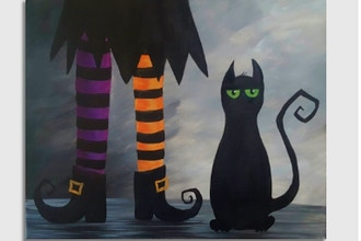 Paint Nite: A Witch's Best Friend