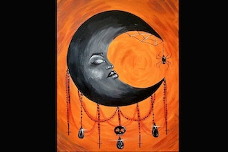Virtual Paint Nite: Witchy Moon