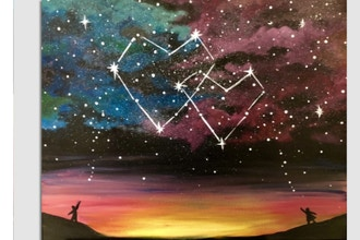 Paint Nite: Written in the Stars - Partner Painting