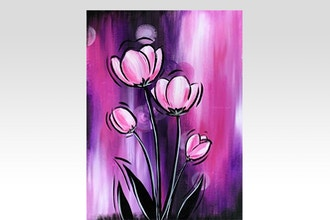 Paint Nite: Perfectly Pink Tulips
