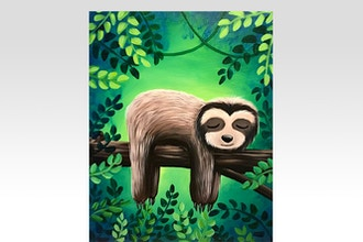 Paint Nite: Sleepy Sloth (Ages 6+)
