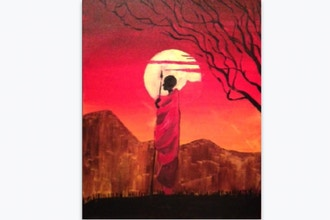 Paint Nite: African Masai Warrior