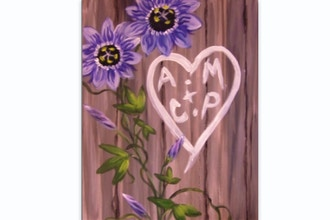 Paint Nite: Passionate Barnboard Love Note