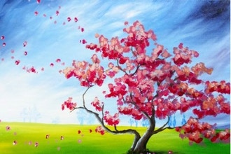 Paint Nite: Blossoms In The Field