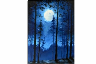 All Ages Paint Nite: Blue Moonlit Forest