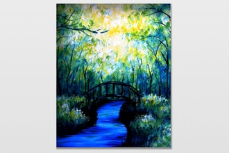Paint Nite: Bridge under the Green Forest
