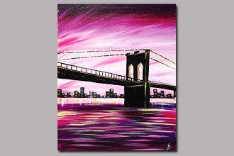 Paint Nite: Brooklyn Bridge at Dusk