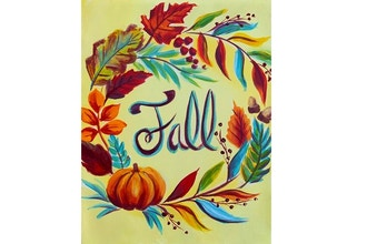 Virtual Paint Nite: Colorful Fall Wreath (Ages 13+)