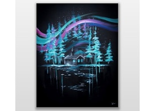 All Ages Paint Nite: Cabin Under The Aurora