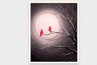 Paint Nite: Cardinal Moon (Ages 18+)