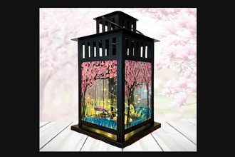 Paint Nite: Cherry Blossom Lantern with Fairy Lights