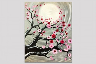 Cherry Blossoms in the Moonlight