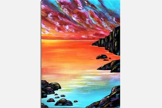 Paint Nite: Cliffs at Sunset