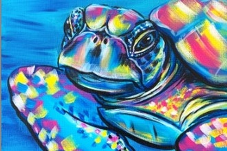 Paint Nite: Colorful Sea Turtle (Ages 6+)