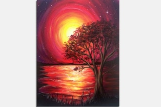 Paint Nite: Crimson Sunset