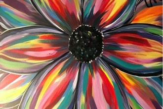 Virtual Paint Nite: Daisy Splash (Ages 6+)