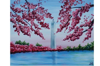 Al Ages Paint Nite: DC Cherry Blossom (Ages 6 & up)