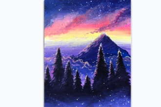 Paint Nite: Dreamy Mountain