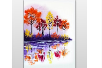 Paint Nite: Fall Lake Reflection