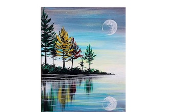 Paint Nite: Fall Moon Reflection