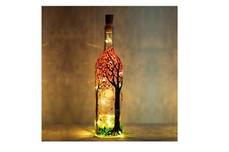 Paint Nite: Blossoming Forest Magic Wine Bottle