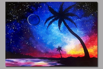 Paint Nite: Galaxy at the Beach