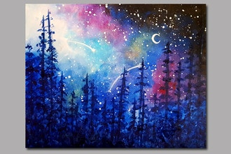 Paint Nite: Galaxy in the Pines