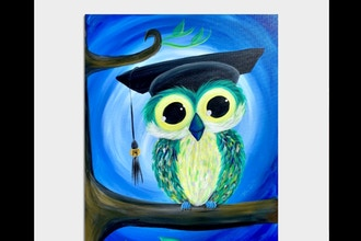 Paint Nite: Graduation Owl *Customizable*