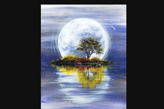 Paint Nite: Harvest Moon Reflection