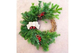 Plant Nite: Holiday Wreath With Live Branches and Bells